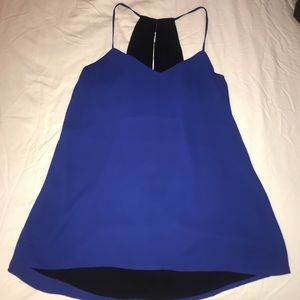 Reversible blue and black tank